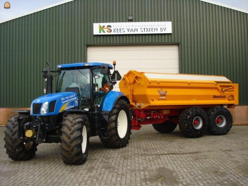 Tractor + kipper New Holland + Veenhuis